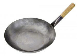 Platte Chinese wok